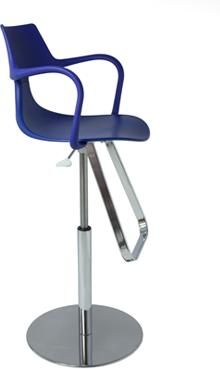 Rivet Shark Adjustable Gas Bar Stool with Footrest image 7