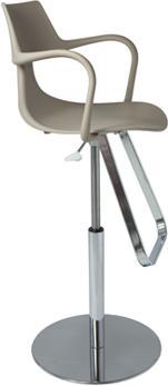 Rivet Shark Adjustable Gas Bar Stool with Footrest image 8