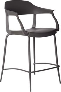 Evo Strass Designer Bar Stool with Arms - White or Anthracite