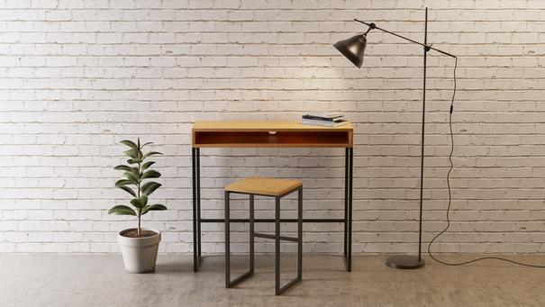 Frame desk stool image 5