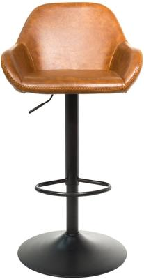 Baxter Tan Brown Faux Leather Gas Lift Bar Stools (set of 2) image 3