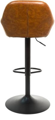Baxter Tan Brown Faux Leather Gas Lift Bar Stools (set of 2) image 5
