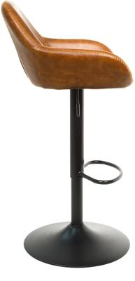 Baxter Tan Brown Faux Leather Gas Lift Bar Stools (set of 2) image 6