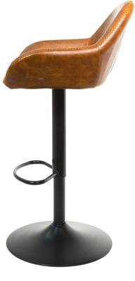 Baxter Tan Brown Faux Leather Gas Lift Bar Stools (set of 2) image 7