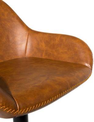 Baxter Tan Brown Faux Leather Gas Lift Bar Stools (set of 2) image 8