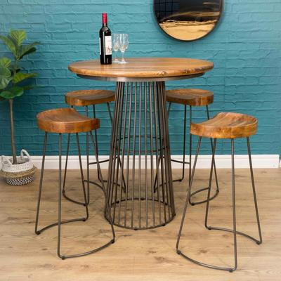 Birdcage Bar Table Vintage Style image 6
