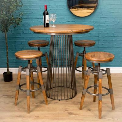 Birdcage Bar Table Vintage Style image 7