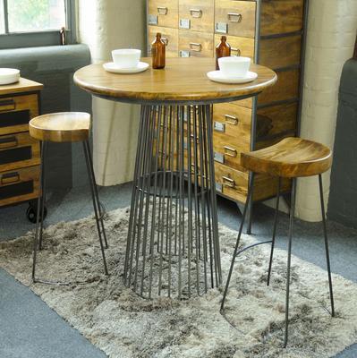 Industrial Vintage Birdcage Round Kitchen Bar Table