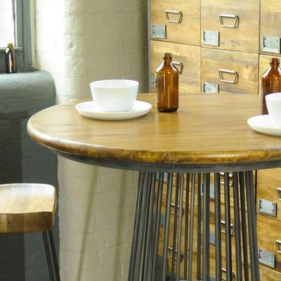 Industrial Vintage Birdcage Round Kitchen Bar Table image 2