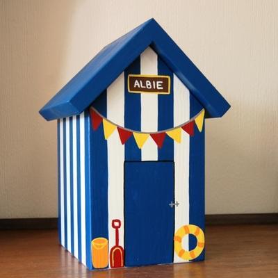 Handmade Beach Hut Keepsake Box image 2
