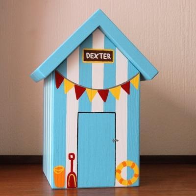 Handmade Beach Hut Keepsake Box image 3