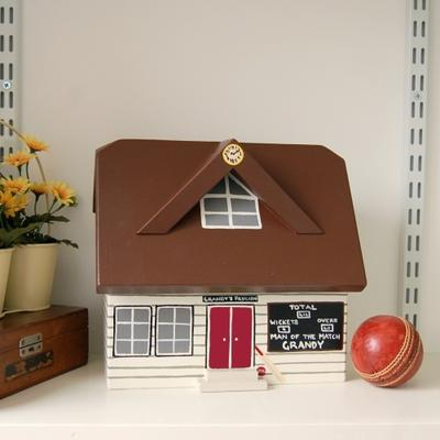Handmade Cricket Pavilion Keepsake Box