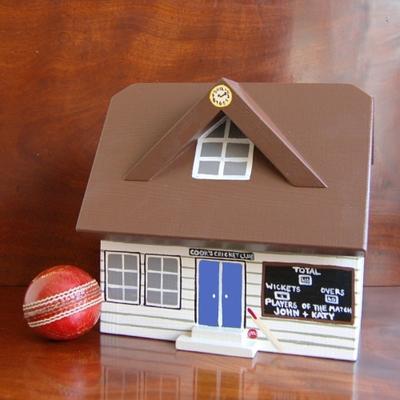 Handmade Cricket Pavilion Keepsake Box image 2