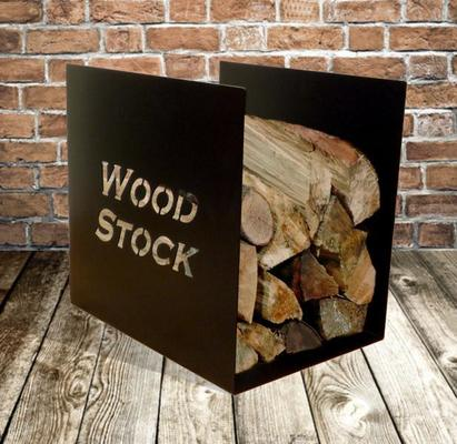 Wood Stock Metal Log Rack - Black
