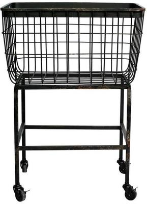 Wheeled Metal Basket Iron Mesh