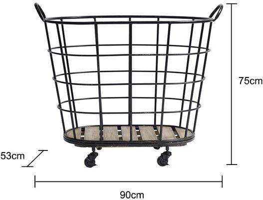 Metal Basket on Wheels image 2
