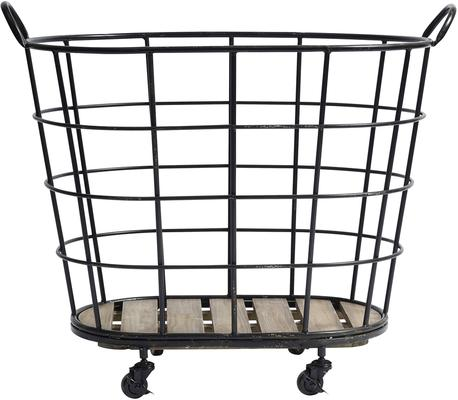 Metal Basket on Wheels image 3
