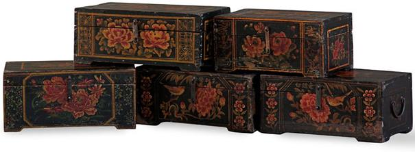 Shanxi Black Painted Box