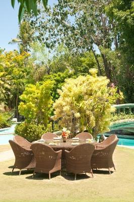 Salama San Marino Outdoor Table With Glass image 4