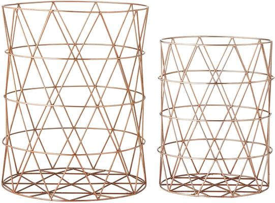 Bloomingville Copper Plated Storage Basket