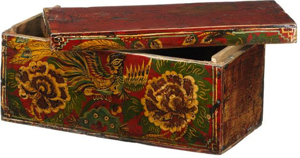 Small Painted Wedding Box image 2
