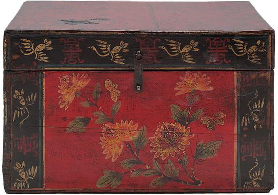 Painted Box with Flowers image 2