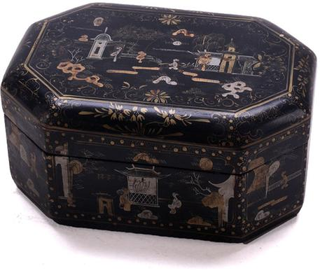 Black Lacquer Painted Box image 2