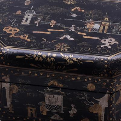 Black Lacquer Painted Box image 3