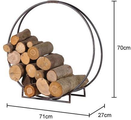 Metal Circle Log Holder Distressed image 2