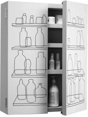 Inside Out Bathroom Cabinet with Double Door image 2