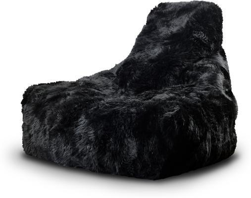 Mighty-b Big Furry Bean Bag - Black