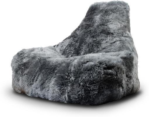 Mighty-b Big Furry Bean Bag - Grey