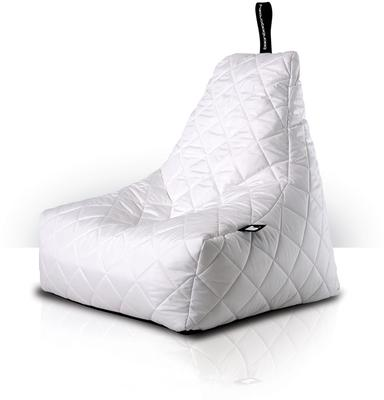 Mighty-b Quilted Outdoor Bean Bag Chair in White