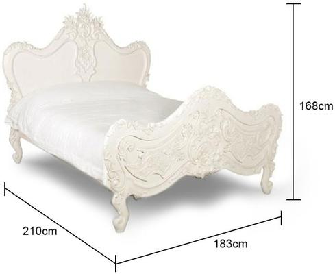 White Baroque Bed French Style image 2