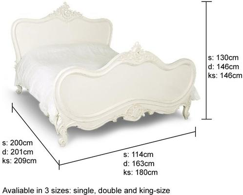 White French Bed with Ornate Head and Footboards image 2