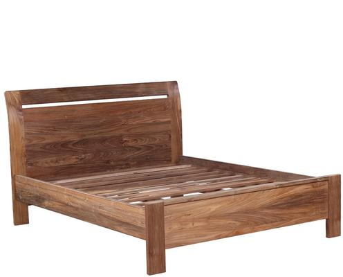 Reclaimed wood bed and 2 x bedside table set