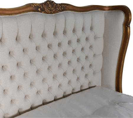 Upholstered Button Gilt Bed image 3