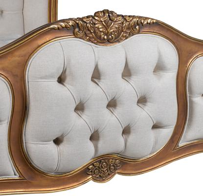Upholstered Button Gilt Bed image 4