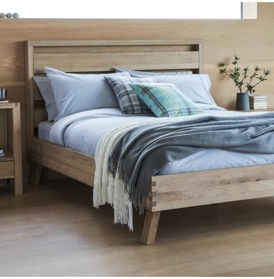 "Kielder Simple Wooden 4ft 6"" Double Bed image 2"