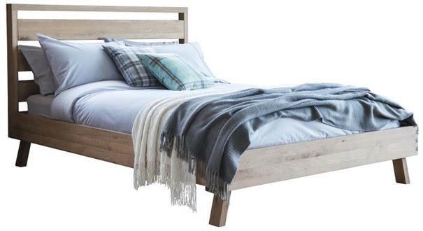 Kielder King Size Simple Wood Bed Solid Oak