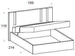 Murano storage bed image 3