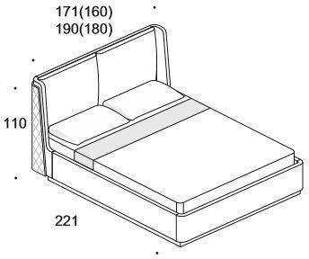 Elysee Chimera (King) bed image 8
