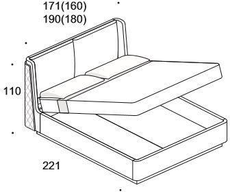 Elysee Chimera (King) storage bed image 7