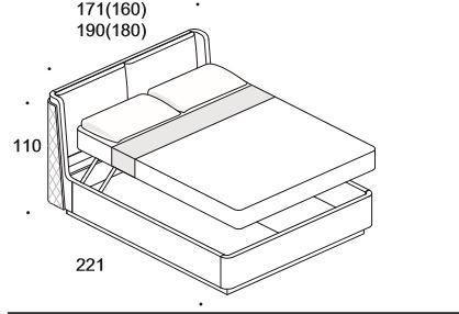 Elysee Chimera (King) storage bed image 8