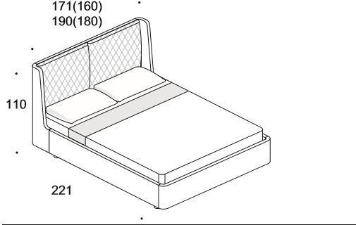 Elysee Crono (King) bed image 6