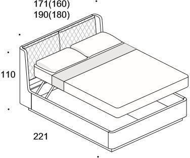 Elysee Crono (King) storage bed image 8