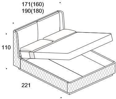 Elysee Aura (King) storage bed image 5