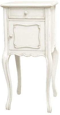 French White Bedside Cabinet with Slender Legs