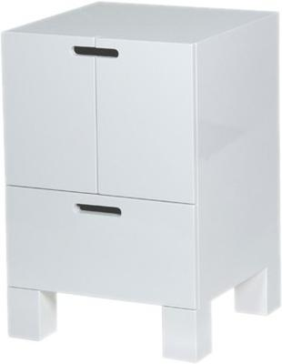 White High Gloss Bedside Table Modern Design