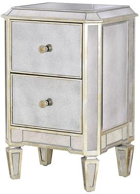 Two Drawer Antique Venetian Bedside Table